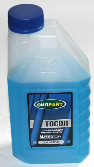 Oil Right Тосол (-40C, синий)