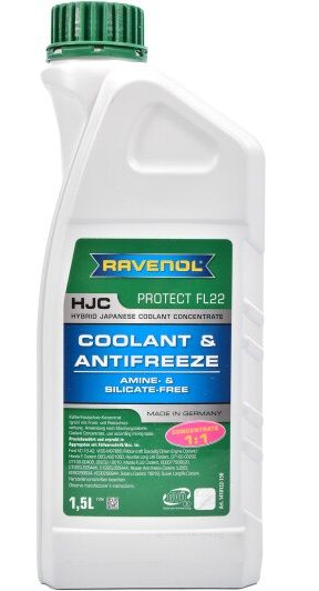Ravenol HJC Hybrid Japanese Coolant Concentrate (-72C, зеленый)