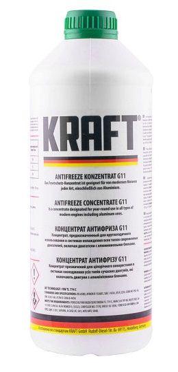 Kraft Antifreeze Concentrate G11 (-70C, зеленый)