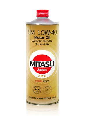 MITASU MOTOR OIL SM 10W-40 Synthetic Blended