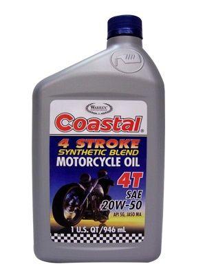 Coastal 4 Stroke Motorcycle Oil 20W-50