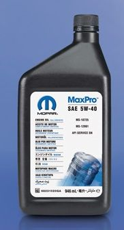 Mopar Engine Oil SAE 5W-40 Synthetic