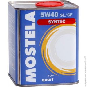 Mostela Syntec SL/CF 5W-40