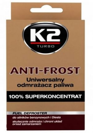 Присадка в бензин (Вытеснитель влаги) K2 Turbo Anti Frost