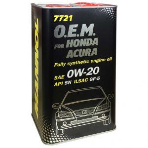 MANNOL 7721 O.E.M. for Honda Acura 0W-20