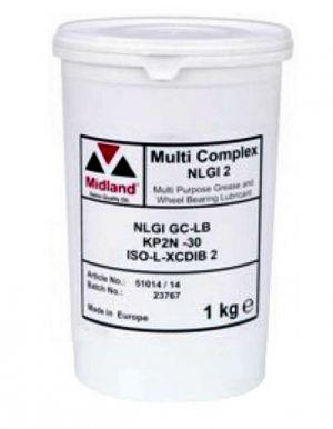 Многоцелевая смазка (литиевый загуститель) Midland Multi Complex NLGI 2