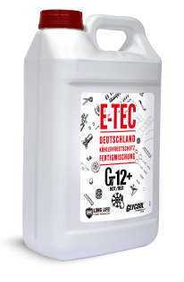 E-TEC Antifreeze G12+ Glycsol (-40C, красный)