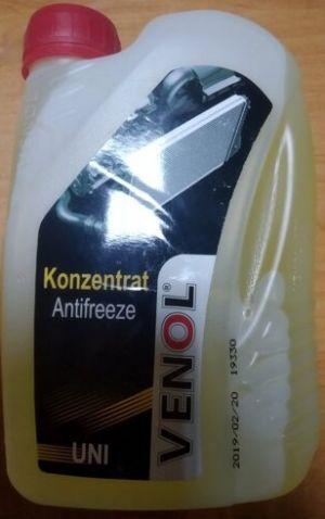 Venol Konzentrat Antifreeze Uni (-70C, желтый)