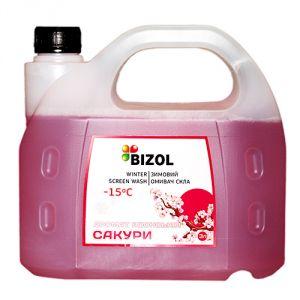 Зимний омыватель, аромат Японская Сакура - BIZOL WINTER SCREEN WASH -15C