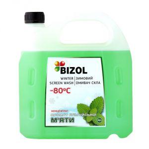Зимний омыватель (концентрат  -80C), аромат Альпийская Мята BIZOL