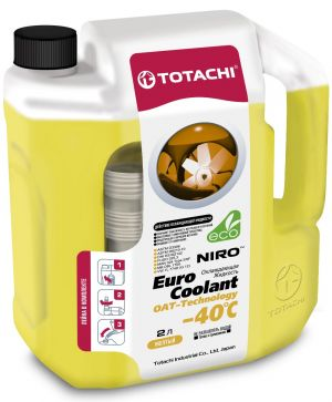 Totachi Euro Coolant OAT Technology (-40C, желтый)
