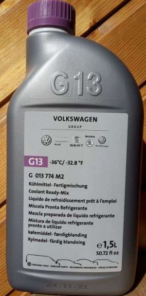 VAG Coolant Ready Mix G13