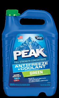 PEAK Full Force Antifreeze & coolant green