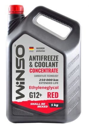 Winso Antifreeze & Coolant Concentrate G12+ (-70C, красный)