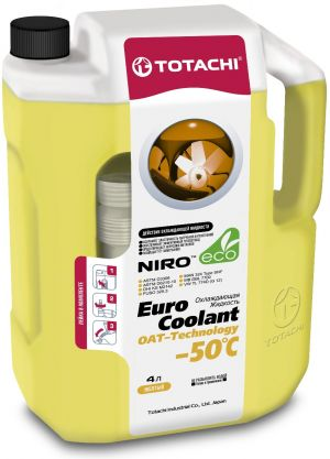 Totachi Euro Coolant OAT Technology (-50C, желтый)