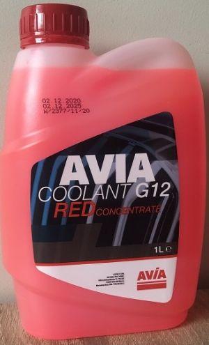 Avia Coolant G12 Concentrate (-70C, красный)