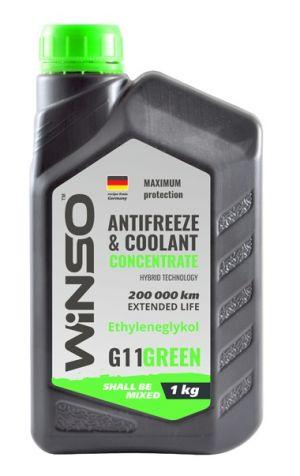Winso Antifreeze & Coolant Concentrate G11 (-70C, зеленый)