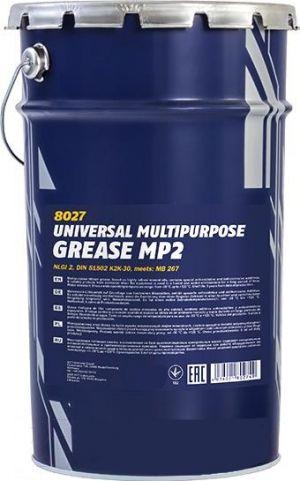 Многоцелевая смазка (литиевый загуститель) MANNOL Multipurpose Grease MP2